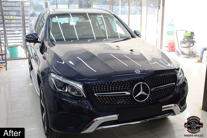 #Mercedes #GLC getting its Paint protected by #Ceramic #Coating 🔥  Minor Scratches Removed, Ceramic Coating Applied which will last up to 3 years, & will Become Scratch Resistant up to 9H Hardness ✅, Easy to Clean & Maintain.  Carefully 👀Check Before & After Pictures 📸 mentioned in the Post  #specialistforceramiccoating  Our Branches: 📌 1. Zion Prime, Thaltej-Shilaj Rd. Ahmedabad. 2. Urvashi Complex, Law Garden Rd, Ahmedabad. 3. Akshar Marg-Amin Marg, Rajkot.  India 🇮🇳  Creative Motors®️ Website 💥 : www.creativemotors.in Youtube 🎥 : www.youtube.com/creativemotors  For Bookings/Query : ☎️Call: +91 99099 99135  📱Call: +91 99099 99134  #creativemotorsahmedabad🔝 #cardetailing #highendcardetailing #ahmedabad #ceramiccoating #glasscoating #Original #Permanent #protection #India #Super #worldno1 #superhydrophobic #Diamond #proud #proudmoments #Mercedes #Ahmedabad #Rajkot #Qualityovereverything