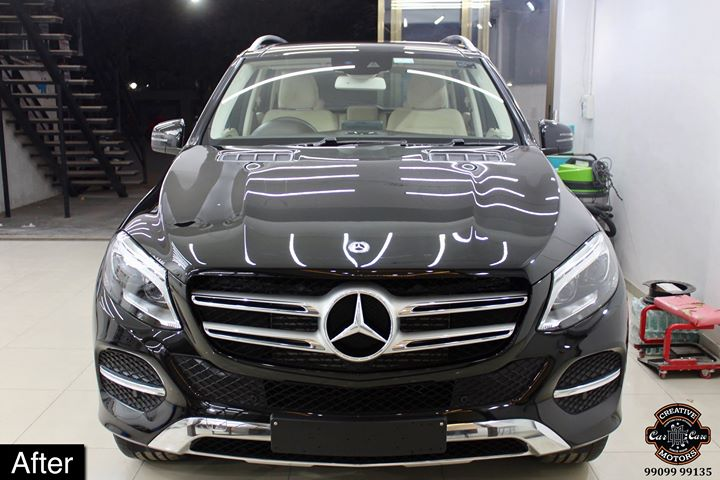 #Mercedes #GLE250 getting its Paint protected by #Ceramic #Coating 🔥  Minor Scratches Removed, Ceramic Coating Applied which will last up to 3 years, & will Become Scratch Resistant up to 9H Hardness ✅, Easy to Clean & Maintain.  Carefully 👀Check Before & After Pictures 📸 mentioned in the Post  #specialistforceramiccoating  Our Branches: 📌 1. Zion Prime, Thaltej-Shilaj Rd. Ahmedabad. 2. Urvashi Complex, Law Garden Rd, Ahmedabad. 3. Akshar Marg-Amin Marg, Rajkot.  India 🇮🇳  Creative Motors®️ Website 💥 : www.creativemotors.in Youtube 🎥 : www.youtube.com/creativemotors  For Bookings/Query : ☎️Call: +91 99099 99135  📱Call: +91 99099 99134  #creativemotorsahmedabad🔝 #cardetailing #highendcardetailing #ahmedabad #ceramiccoating #glasscoating #Original #Permanent #protection #India #Super #worldno1 #superhydrophobic #Diamond #proud #proudmoments #Mercedes #Ahmedabad #Rajkot #Qualityovereverything