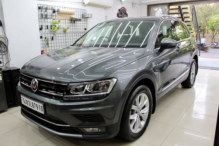 #Volkswagon #Tiguan getting its Paint protected by #Ceramic #Diamond #Coating🔥  Minor Scratches Removed, Ceramic Coating Applied which will last up to 5 years, & will Become Scratch Resistant up to 9H Hardness ✅, Easy to Clean & Maintain.  Carefully 👀Check Before & After Pictures 📸 mentioned in the Post  Benefits of Ceramic Coating👇 🔺9H Hardness coat 🔺Remove Swirl marks 🔺Weather Resistance 🔺Mirror finish 🔺Avoids UV rays 🔺Water & Dust Repellent  #specialistforceramiccoating  Our Branches: 📌 1. Zion Prime, Thaltej-Shilaj Rd. Ahmedabad. 2. Urvashi Complex, Law Garden Rd, Ahmedabad. 3. Akshar Marg-Amin Marg, Rajkot.  India 🇮🇳  Creative Motors®️ Website 💥 : www.creativemotors.in Youtube 🎥 : www.youtube.com/creativemotors  For Bookings/Query : ☎️Call: +91 99099 99135  📱Call: +91 99099 99134  #creativemotorsahmedabad🔝 #cardetailing #highendcardetailing #ahmedabad #ceramiccoating #glasscoating #Original #Permanent #protection #India #Super #worldno1 #superhydrophobic #Diamond #proud #proudmoments #Mercedes #Ahmedabad #Rajkot #Qualityovereverything