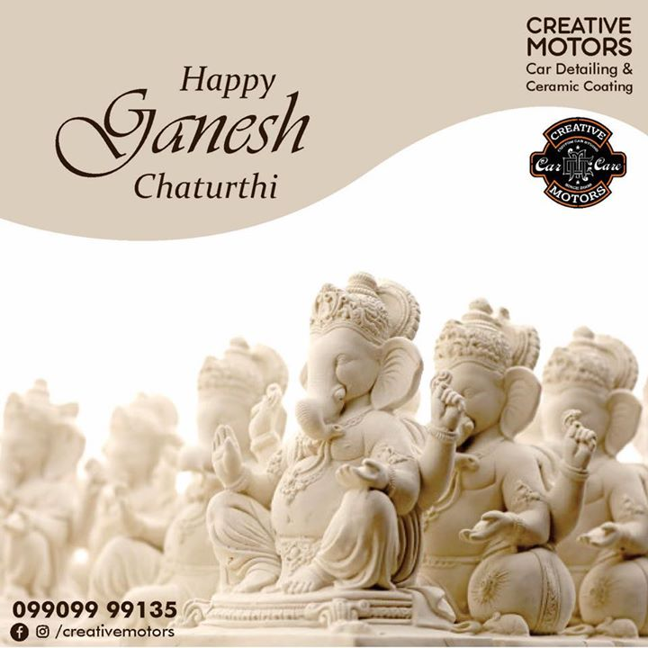 Ganpati Bappa Morya  Mangal Murti Morya  May your Ganesh Chaturthi be filled with lots of laughter and fun. Happy Ganesh Chaturthi!   #HappyGaneshChaturthi  #specialistforceramiccoating  Our Branches: 📌 1. Zion Prime, Thaltej-Shilaj Rd. Ahmedabad. 2. Urvashi Complex, Law Garden Rd, Ahmedabad. 3. Akshar Marg-Amin Marg, Rajkot.  India 🇮🇳  Creative Motors®️ Website 💥 : www.creativemotors.in Youtube 🎥 : www.youtube.com/creativemotors  For Bookings/Query : ☎️Call: +91 99099 99135  📱Call: +91 99099 99134  #creativemotorsahmedabad🔝 #cardetailing #highendcardetailing #ahmedabad #ceramiccoating #glasscoating #Original #Permanent #protection #India #Super #worldno1 #superhydrophobic #Diamond #proud #proudmoments #Mercedes #Ahmedabad #Rajkot #Qualityovereverything
