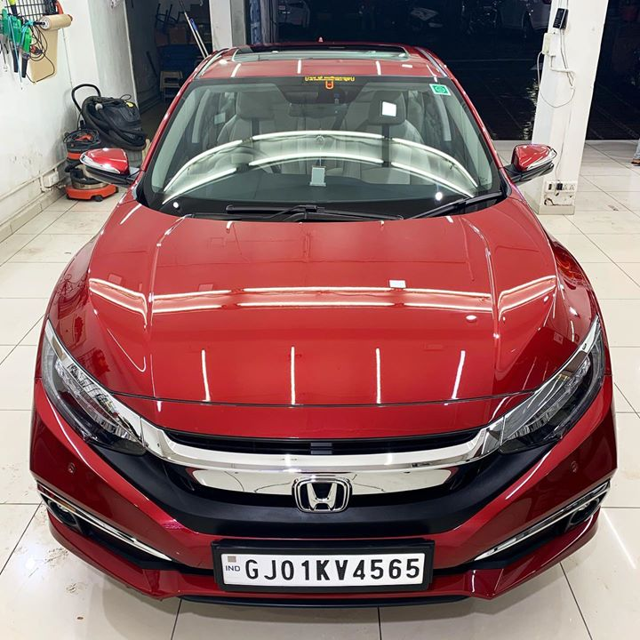 Another Honda Civic Protected by Ceramic Coating 🔥  Benefits of Ceramic Coating👇      🔺9H Hardness coat    🔺Remove Swirl marks   🔺Weather Resistance    🔺Mirror finish    🔺Avoids UV rays    🔺Water & Dust Repellent   Call-9909999135  or Visit-www.creativemotors.in  #ceramiccoating #glasscoating #nanoceramiccoating #creativemotors #qualityovereverything