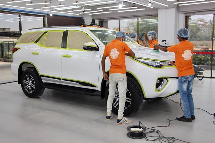 Work in Process  Ceramic Coating on Fortuner   Best Paint Protection  Call-9909999135