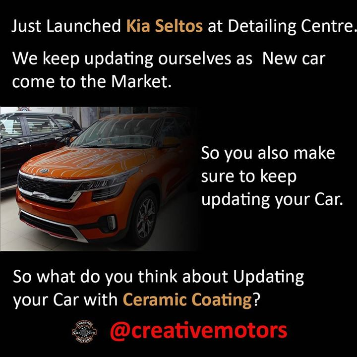 Hey Guys, - Have you checked out the new Kia Seltos? - Anyways, The Brand New Kia Seltos has just Ceramic coated by our Team. - So we also keep updating ourselves for the New Cars and New Technologies that come to the Market. - So I want to ask you that you also Update yourself as the New technology arrives in the Market? - If NO, Then I think you should keep updating yourself for new things in the market. - And If YES, Then Do you update your Car with New Technology? - And Especially have you updated your car with Ceramic Coating? - So What do you think of updating your Car with Ceramic Coating? - Just Comments Down Below what you think of it?  #ceramiccoating #nanoceramiccoating #glasscoating #creativemotors #qualityovereverything #cars #coating #kiaseltos #ahmedabad #rajkot