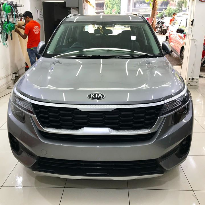 Another Kia Seltos Protected by Ceramic Coating 🔥  Benefits of Ceramic Coating👇       🔺9H Hardness coat    🔺Remove Swirl marks   🔺Weather Resistance    🔺Mirror finish    🔺Avoids UV rays    🔺Water & Dust Repellent   Creative Motors Rajkot & Ahmedabad   Call-9909999135 or Visit-www.creativemotors.in @ Creative Motors Ahmedabad