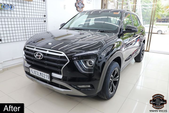 Ceramic Coating done on Hyundai Creta 2020🔥  Benefits of Ceramic Coating👇   ✅9H Hardness - Scratch Resistant   ✅Removes Swirl marks    ✅Weather Resistance     ✅Gives Mirror Finish     ✅UV Protection ✅Anti Aging   ✅Water & Dust Repellent   ✅Easy to Clean & Maintain ✅Enhances the Paint   Get the Best Ceramic Coating Treatment done For your Car Today itself to Avoid Future Scratches & Aging Effect.  📞Call - +919909999135 ☎️ or  ♐️Visit-www.creativemotors.in  Creative Motors ®️ 📍 Location: Urvashi Complex, Mithakhali Six Roads, Ahmedabad   ❌ Beware of Cheap Coatings available in the market which merely protect the Paint   #ceramiccoating #glasscoating #bestpaintprotection #ahmedabad #rajkot #paintprotection #9hceramiccoating #rangerover #rrsports #bestornothing