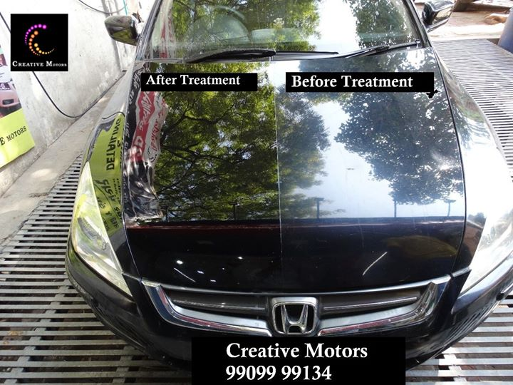 Surprised ?  It's True, give your car Glass coated Paint Protection Treatment to Surprise all.  Want to know more call #CreativeMotorsAhmedabad on +91-9909999135