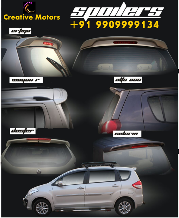 The right #spoiler can make an ordinary look like a performance car, and make a performance car look like it's fresh off all race track.  Browse our selection to get the spoiler that's perfect for your car.  You can get in touch with us easily on our no.+91 9909999134...  #creativemotors #creativemotorsinahmedabad