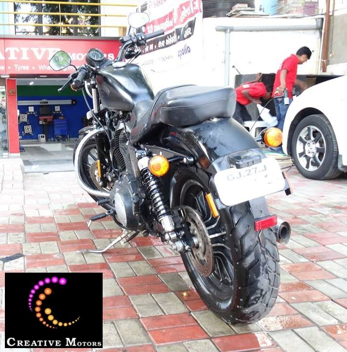 #HarleyDavidson Bike after Our extreme Foam Wash & Detailing...  Achieve the highest level of shine while washing fast and easy.Our extreme Foam Wash & Detailing system reduces the chance of scratching your vehicle paint by coating your vehicle in a blanket of extreme foam.  Premium Segment of Bike Foam Wash & Detailing !!!  Visit Us at #Creativemotors  Add :- 1&2, Ground Floor. Urvashi Complex,           Mithakali Cross roads,            Navrangpura,            Ahmedabad, India 380009  You can also Call Creativemotors on +91-9909999135