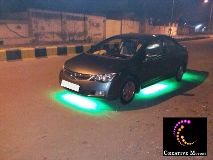 LED underbody light for your car... It complete the show car look and really make the car stand out at Night...  Come to Creative Motors for wide range of Variety n Style. Visit Us at Creative Motors  Add :- 1&2, Ground Floor. Urvashi Complex, Mithakhali Cross roads,  Navrangpura,  Ahmedabad, India 380009  You can also Call Creative Motors on +91-9909999135 #creativemotor #ahmedabad