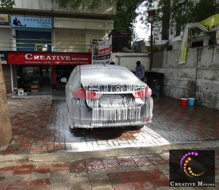 Our extreme Foam Wash & Detailing is the perfect way to remove dirt, grime, and debris while maintaining the quality of your paintwork.  Premium Segment of Car Foam Wash & Detailing !!!  Visit Us at Creativemotors Add : 1&2, Ground Floor. Urvashi Complex, Mithakali Cross roads, Navrangpura, Ahmedabad, India 380009