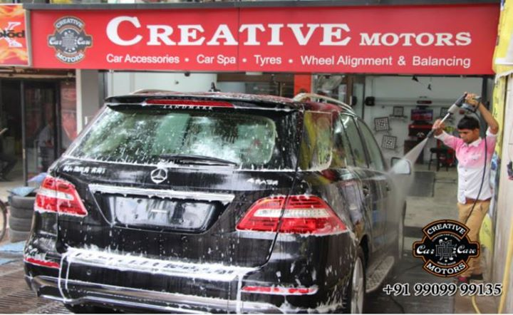 Need to clean or find a size?  'Creative Motors'  Car Foam Wash promises customers with an excellent service, value for money, highest quality and consistent results.  'Creative Motors' Offer a #foamwash in just Rs.250/- only.  Find great #deals on Creative Motors for #CarFoamWash and join our Live demo for Car Spa and other treatment.  Book your car now @ +91 99099 99135 or  079 26421200  Add :- 1&2, Ground Floor. Urvashi Complex, Mithakhali Cross roads, Navrangpura, Ahmedabad, India 380009