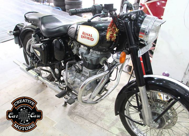 Glass Coated Treatment - A #revolution in surface protection.  Have a #bike you #love the most !!! We will #glasscoated it for you.It is then coated with sealants to protect it from further #oxidation and #deterioration.  Talk to us to know more about Glass Coated Treatment @  +91 99099 99135 or 079 26421200  Add :- 1&2, Ground Floor. Urvashi Complex, Mithakhali Cross roads, Navrangpura, Ahmedabad, India 380009