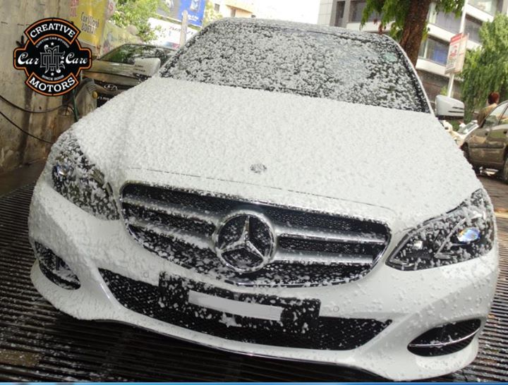 Clean your car with powerful snow !!! Remove as much dirt as possible before touching the car with anything else like a microfiber.  Book Your Car for Foam Wash @ 'Creative Motors'  in just Rs.250/- only.  Ring on +91 99099 99135 or 079 26421200  Add :- 1&2, Ground Floor. Urvashi Complex, Mithakhali Cross roads, Navrangpura, Ahmedabad, India 380009