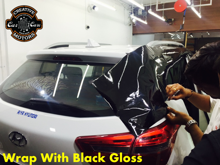 #Wrap with Black Gloss - The ultimate way to Restyle your Ride!!! Make your car stylist 'Creative Motors'  Hurry Up and Book your car now.  Ring On >>> +91 99099 99135 or 079 26421200  Add :- 1&2, Ground Floor. Urvashi Complex, Mithakhali Cross roads, Navrangpura, Ahmedabad, India 380009