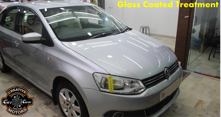 With Our Glass Coated Treatment, Vehicle will become extremely shiny for a very long time.   After treatment with 'Creative Motors' you no longer need traditional cleaners.The paintwork of the vehicle will restore the showroom standard...  Move your car and get shiny result...  Ring On >>> +91 99099 99135 or 079 26421200 Add :- 1&2, Ground Floor. Urvashi Complex, Mithakhali Cross roads, Navrangpura, Ahmedabad, India 380009
