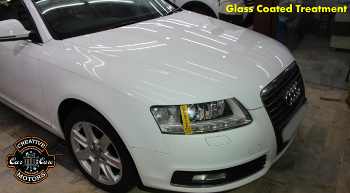 Why your car does not maintain its color and gloss and it becomes dull after a few months?  If you want all these answers, you may find this post useful or just speak to us.  Our Glass Coated Treatment , you get your precious car to consistently look new, shiny and hydrophobic (repels water) for years (not months) and to protect its paintwork from dirt, hairline scratches and watermarks, your search finally ends here.  Ring On >>> +91 99099 99135 or 079 26421200  Add :- 1&2, Ground Floor. Urvashi Complex, Mithakhali Cross roads, Navrangpura, Ahmedabad, India 380009
