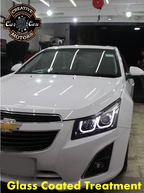Creative Motors,  Glass, Coated, Treatment, shine, experience., specialists, creativemotors, ahmedabad, caraccessories, cardetailing, carspa, microdetailing, GlassCoatedTreatment, glasscoated, carfoamwash, foamwash, cardoorreflector