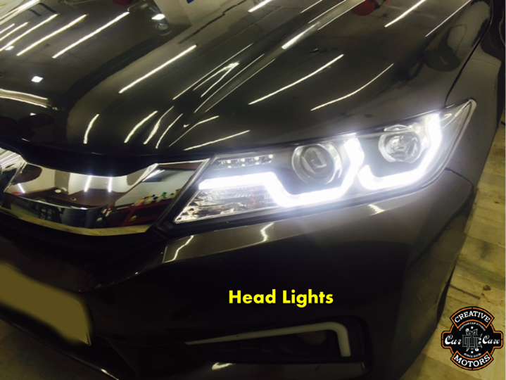 Drive Safe in Style with LED Head Lights.  #Light up your #vehicle's front-end and the road ahead with high-quality #headlights from 'Creative Motors'...  Customize your ride's look,Get Best Deals On Wide Range of #Car #Accessories  @ Creative Motors...  We are here to listen you. Tel/Whatsapp : +91-99099 99135 or 079 26421200  Add :- 1&2, Ground Floor. Urvashi Complex, Mithakhali Cross roads, Navrangpura, Ahmedabad, India 380009