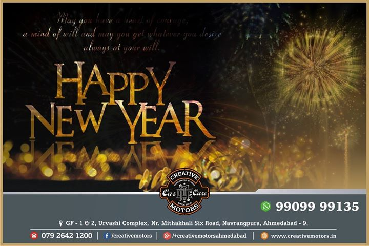...A new year is like a blank book and the pen is in your hands...It is your chance to write a beautiful story for yourself...  Wish you a very Happy New Year to all of you - Team 'Creative Motors'  #SaalMubarak #HappyNewYear