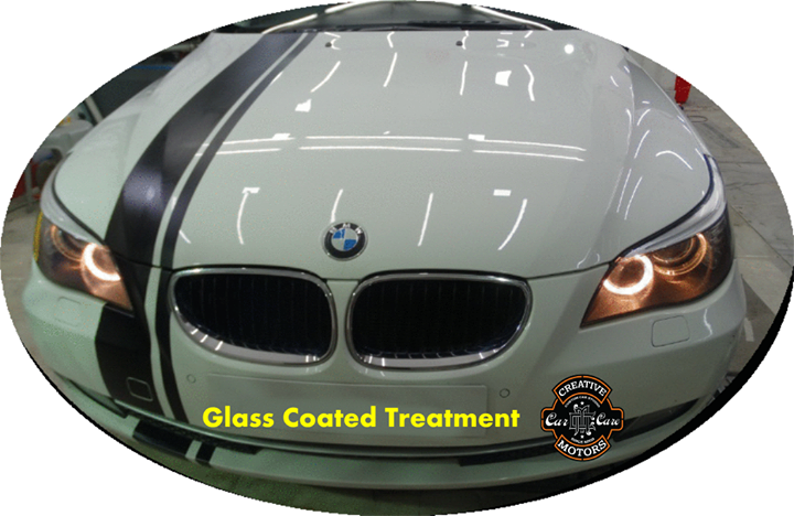 The car exhibited an unique #shine that is enjoyable to look at. The ideal level of #color and shine emerged, we sealed it with Glass Coated Treatment.  Contact us to fix an appointment now.  Tel/Whatsapp : +91-99099 99135 or 079 26421200  Add :- 1&2, Ground Floor. Urvashi Complex, Mithakhali Cross roads, Navrangpura, Ahmedabad, India 380009