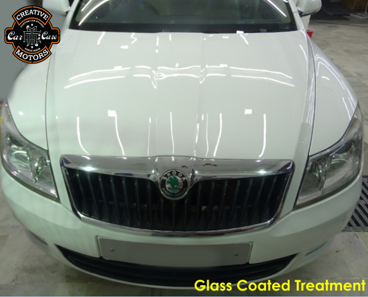 Our Glass Coated treatment has been wiped clean your car, it exhibits a special #gloss that can be found on actual glass.  Talk to us now if you would like your car to enjoy the same treatment.  Tel/Whatsapp : +91-99099 99135 or 079 26421200  Add :- 1&2, Ground Floor. Urvashi Complex, Mithakhali Cross roads, Navrangpura, Ahmedabad, India 380009