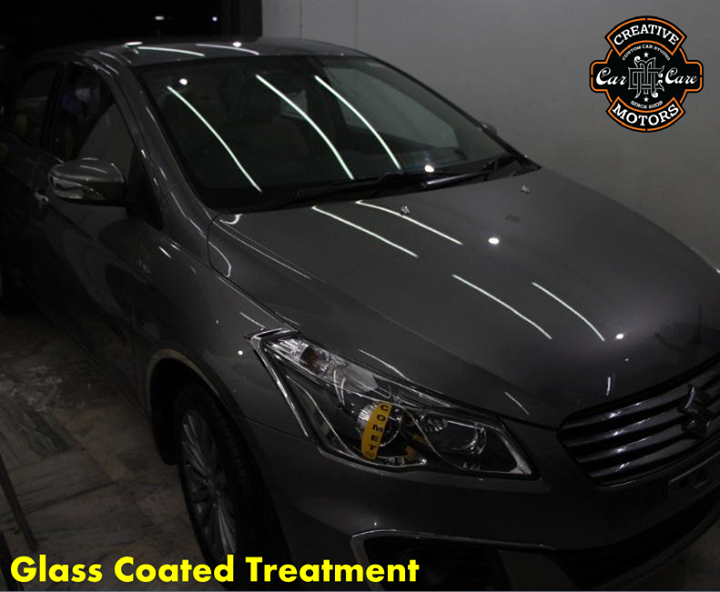 Our Glass Coated Treatment is used to protect the skin, the color of a new car for a long term. It protects the skin of a new car from outside interference like bird droppings, sands, UV Rays, dusts, stones, scratches.  Super mirror reflect coating provides a clear visibility to the user.  Time to send your car to us? You can reach us at the following modes.  Tel/Whatsapp : +91-99099 99135 or 079 26421200  Add :- 1&2, Ground Floor. Urvashi Complex, Mithakhali Cross roads, Navrangpura, Ahmedabad, India 380009