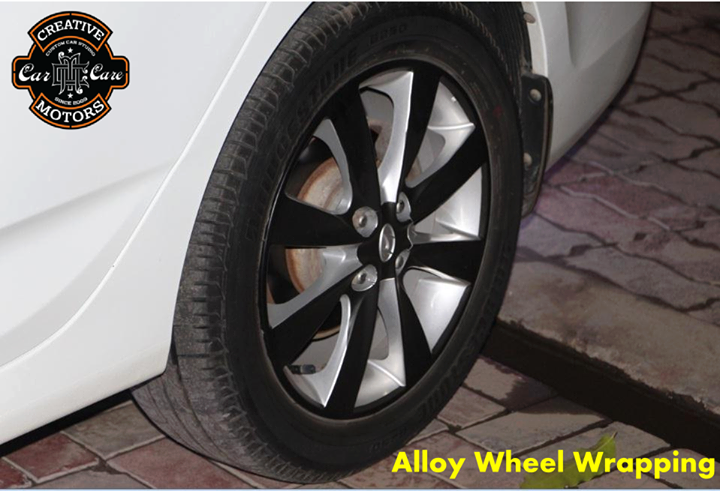 Creative Motors,  AlloyWheelWrapping, Wrapping, creativemotors, ahmedabad, caraccessories, cardetailing, carspa, microdetailing, GlassCoatedTreatment, glasscoated, carfoamwash, foamwash
