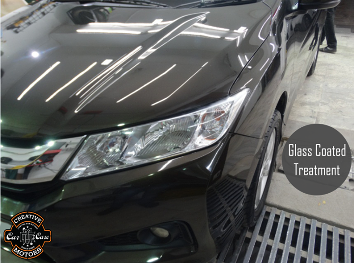 One Glass Coated Treatment is all you need to achieve great result. We ensures that the entire car is cleaned and treated.   Like it? The actual car looks better than the photos especially outdoors and under the hot sun.  Refresh your Car @ 'Creative Motors'  Tel/Whatsapp : +91-99099 99135 or 079 26421200  Add :- 1&2, Ground Floor. Urvashi Complex, Mithakhali Cross roads, Navrangpura, Ahmedabad, India 380009