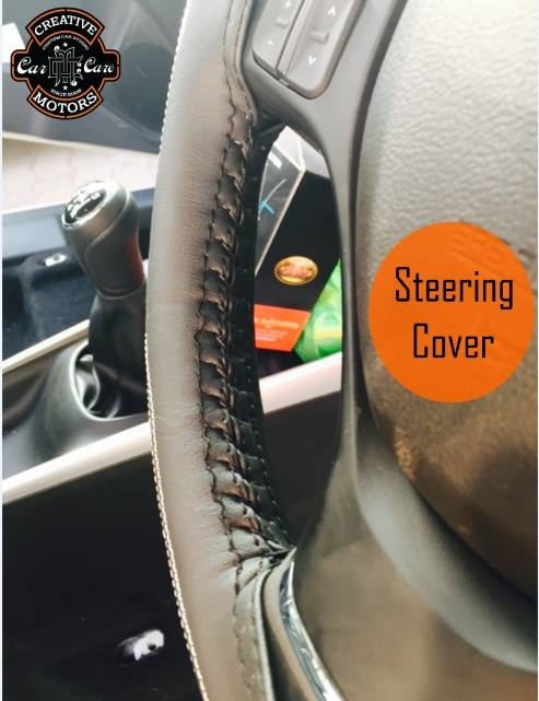 Creative Motors,  steeringwheelcover., creativemotors, ahmedabad, caraccessories, cardetailing, carspa, microdetailing, GlassCoatedTreatment, glasscoated, carfoamwash, foamwash, steeringcover