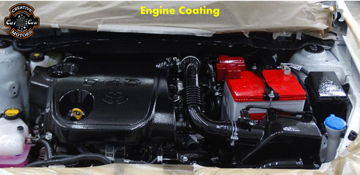 #Enginecoating provides a fresh & new look to the #engine surface.  Our Engine Coating treatment restores the power, performance, fuel economy and improving fuel consumption and power inside the engine.  Keep Your Car Looking New with a range 'Creative Motors' Treatments...  Tel/Whatsapp : +91-99099 99135 or 079 26421200  Add :- 1&2, Ground Floor. Urvashi Complex, Mithakhali Cross roads, Navrangpura, Ahmedabad, India 380009